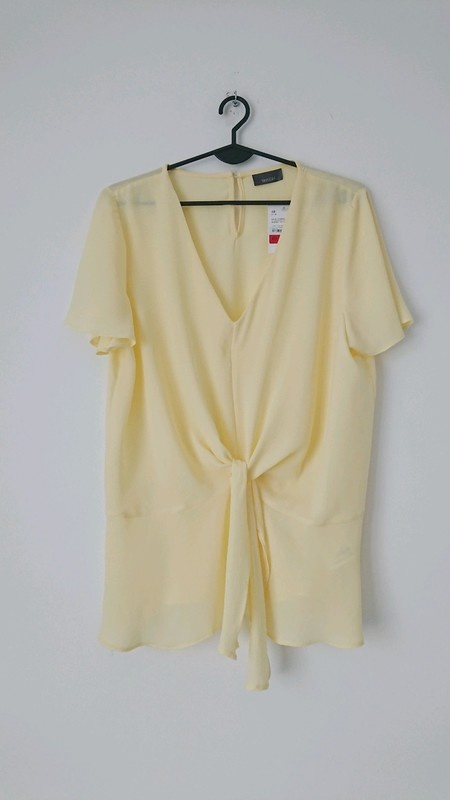 C&A żółta bluzka na krótki rękaw