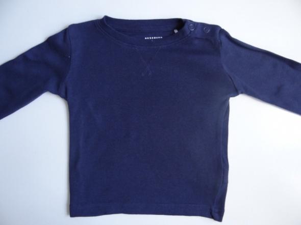 Granatowa bluzka na długi rękaw rozmiar 80 Reserved...