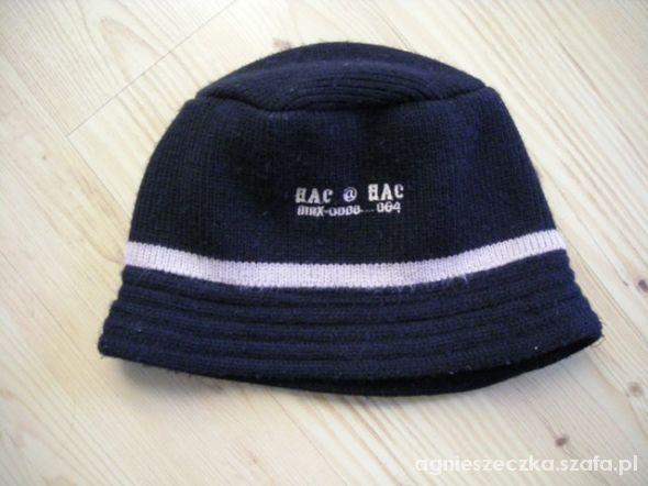 czarna czapka kapelusz dziecięcy młodzieżowy