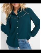 XL NOWA Bluzka koszula butelkowa zieleń z lamówką ORSAY...