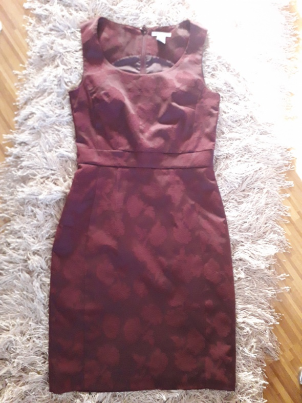 bordowa sukienka H&M 34 xs super