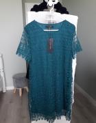 Sukienka koronka 38 M emerald lace...
