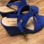 Niebieskie sandały 37 na koturnie