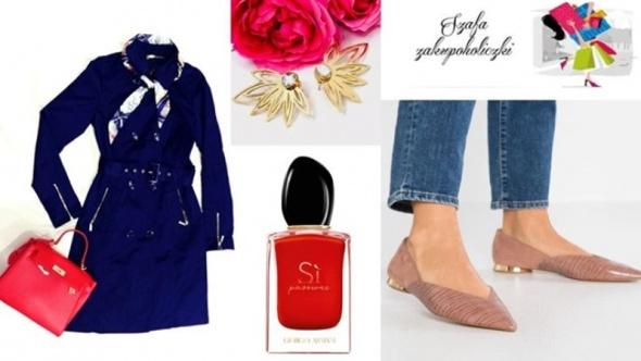 Jesienna stylizacja modnej kobietki