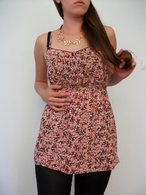 Bluzka na ramiaczkach na lato w kwiatuszki M L