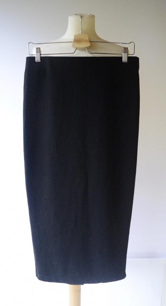 Spódniczka Prążki Ołówkowa Zara Trafaluc L 40 Czarna Elegancka Pracy