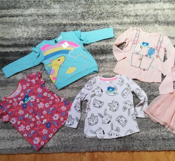 Bluzki Komplet 4 nowych bluzeczek na jesień rozm 86