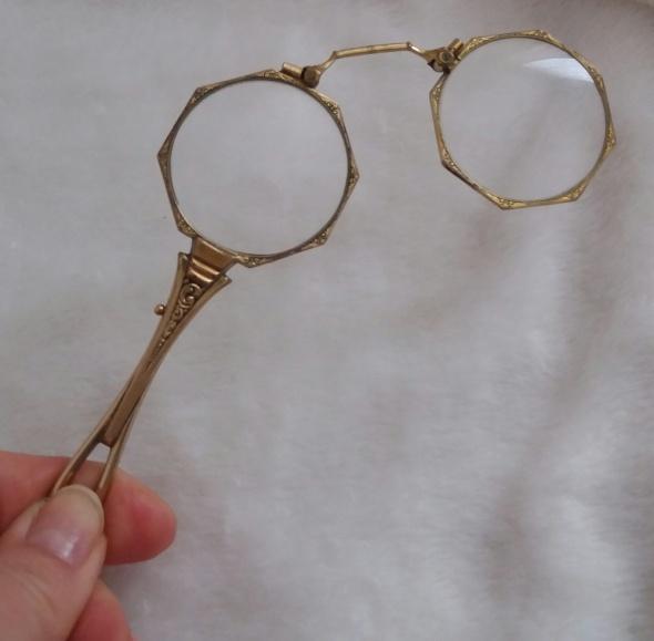 Stare zabytkowe okulary do opery...