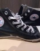 Trampki skóra skórzane czarne za kostkę Converse 39...