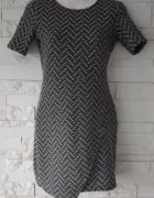 Sukienka dzianinowa wzory asymetryczna reserved XS...