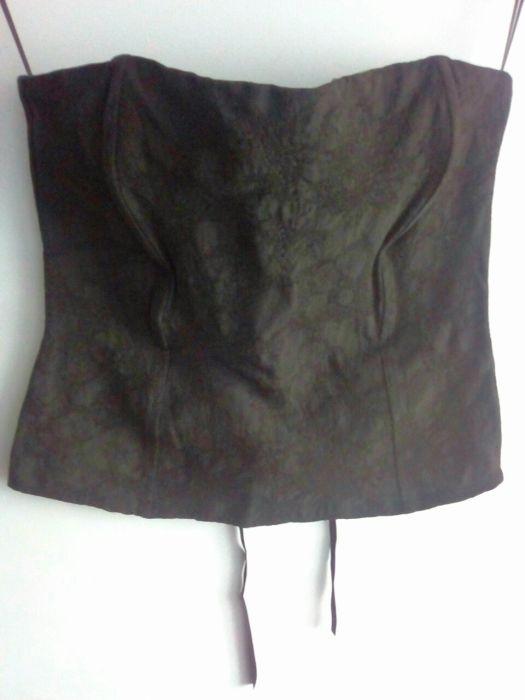 gorsetowa bluzka gorset top wiązany regulowany koronkowy wzór