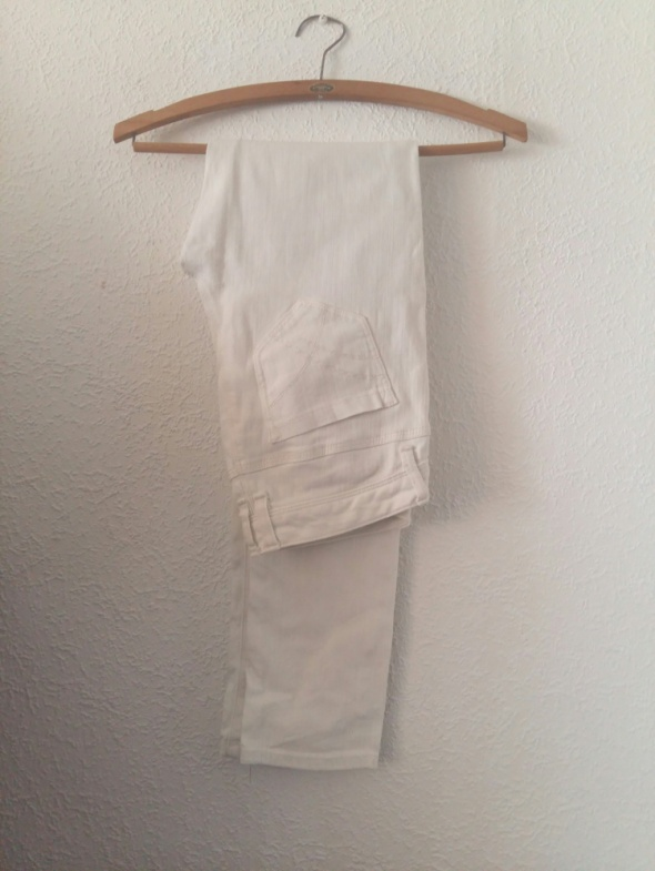 Biale spodnie rurki tally weijl M...