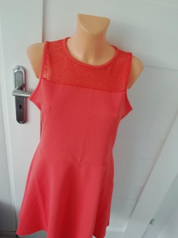 koralowa sukienka S M...