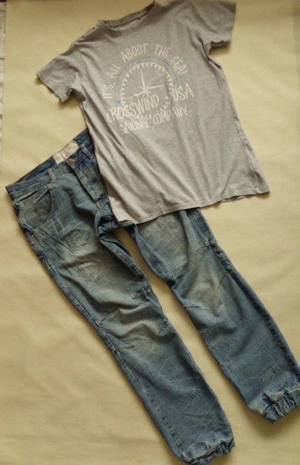 Spodnie INDIGO SEAL spodnie dżinsy i t shirt 170 180