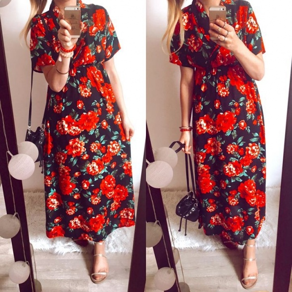 Suknia Damska w kwiaty M...