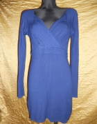 kobaltowa niebieska sukienka