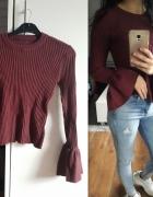 burgundowy sweterek...