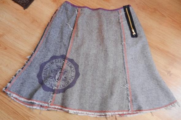 Spódnice Spódnica wełna tweed D Lite L 40