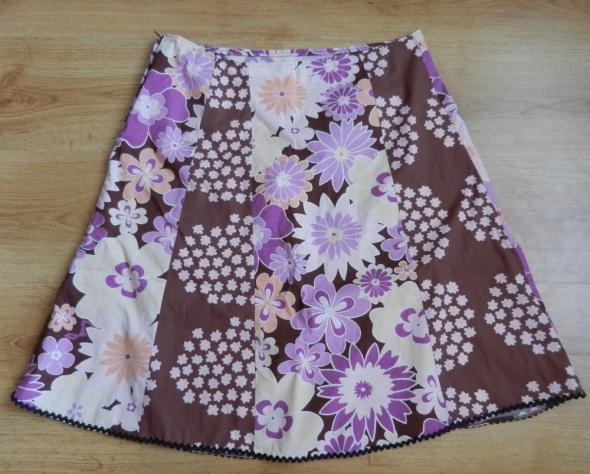 Spódnica wzór kwiaty fiolet Atmosphere 40 L...
