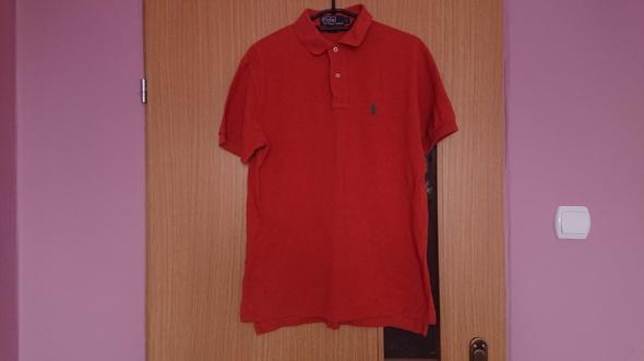 Koszulki pomarańczowa koszulka polo ralph lauren S