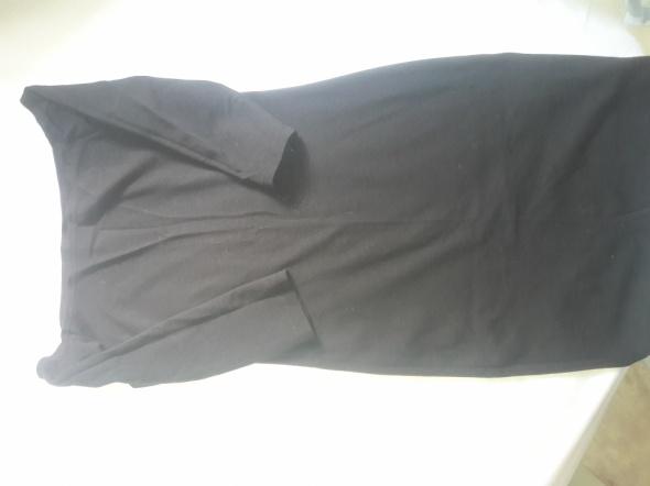 Czarna dresowa sukienka