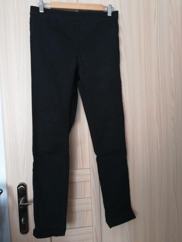 Spodnie H&M czarne rurki obcisłe tregginsy na gumce