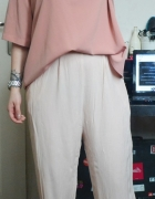 Luźne spodnie pudrowe pudrowy róż L XL XXL 40 42...