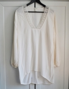 Asymetryczna bluzka tunika boho oversize S M L 36...