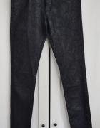 Spodnie rurki woskowane żakardowe S M 36 38...