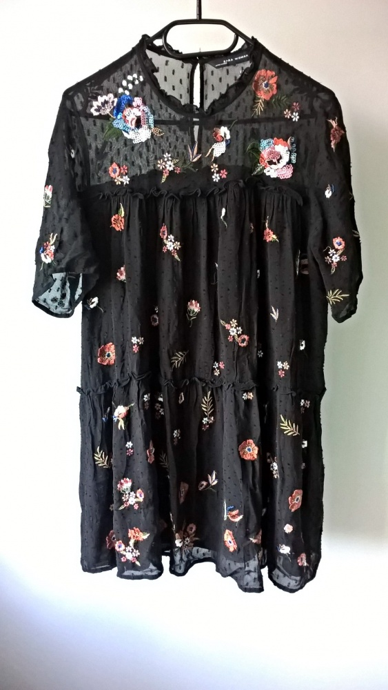 Sukienka tunika Zara kwiaty S M L...