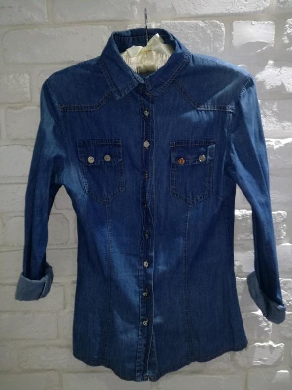 Jeansowa niebieska koszula XS 34