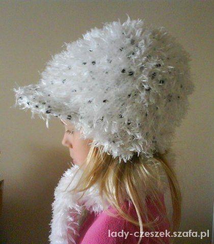 zimowy komplet dziewczęcy czapka i szalik...