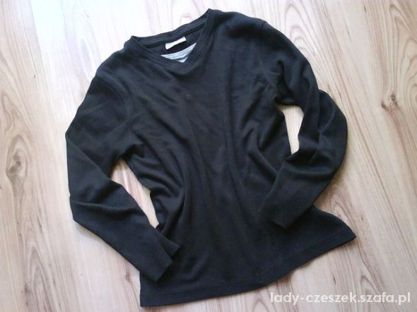 czarna bawełniana bluzka chłopięca 140