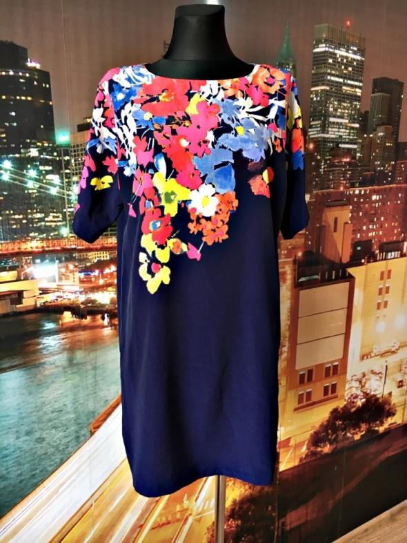 ann taylor loft sukienka luźny fason kwiaty nowa hit 36 s...