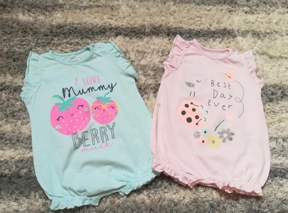 Bluzki Dwa nowe rampersy dla dziewczynki rozm 74
