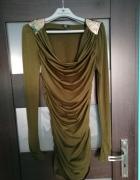 Zielona sukienka khaki rozmiar 34 New Yorker...
