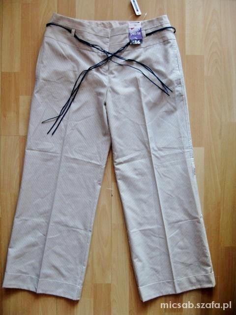 GEGRGE nowe eleganckie spodnie z paskiem 42...
