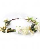 Nowy biały wianek białe kwiaty róże opaska wieniec...