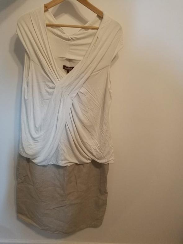 firmowa sukienka dekoltem XXL Max Mara
