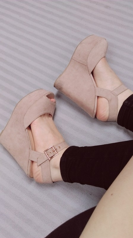 Sandały Koturny na platforie
