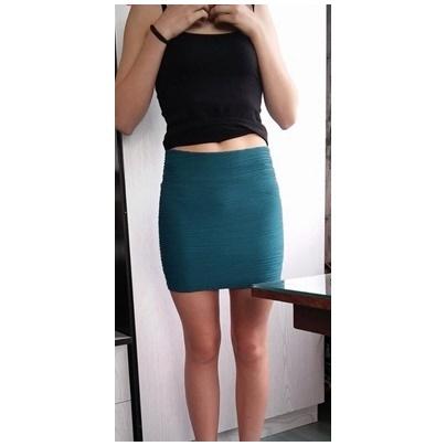 Spódnice Morska tłoczona spódniczka mini zip