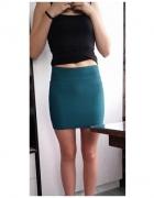Morska tłoczona spódniczka mini zip...