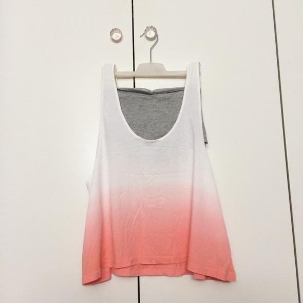 Adidas Neo komplet tank top cieniowany biały różowy watermelon i bandenau szary Selena Gomez SG S