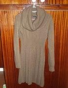 ciepła brązowa sukienka