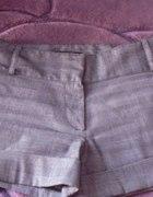 eleganckie szare krótkie spodenki w kratę...