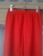 bawełniana czerwona spódnica z zipami po bokach...