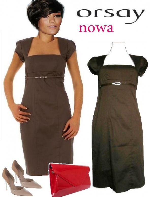 Czekoladowa sukienka Orsay 36...