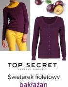 Nowy fioletowy sweterek 34 36...