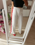 Nowe spodnie missguided szerokie nogawki lampasy guziki high wa...