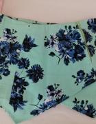 Miętowe szorty na zakładkę Atmosphere floral 38...